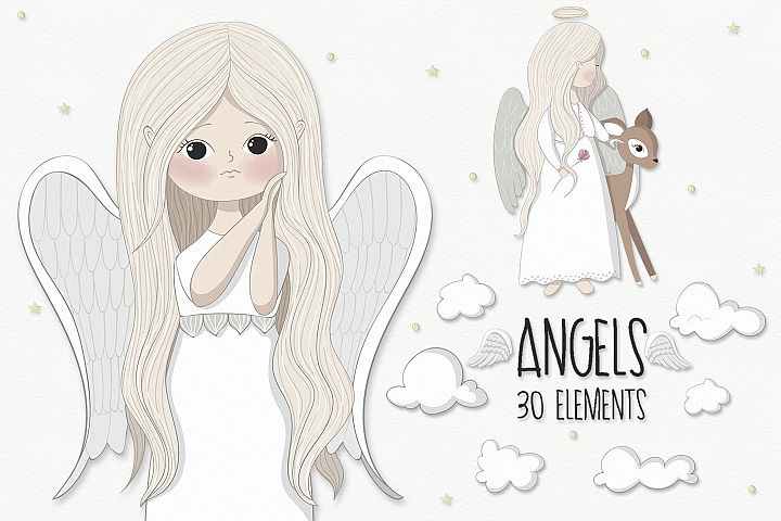 Little angels clipart - Free Design of The Week