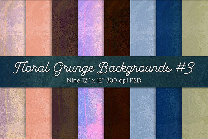 Floral Grunge Backgrounds #3
