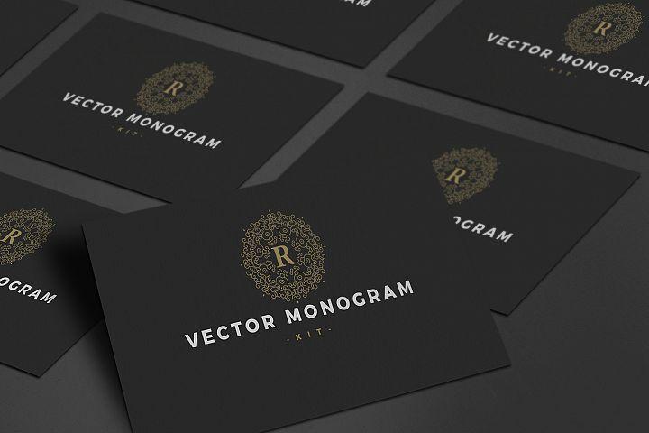 27 Vector Logo Monogram Kit Bundle