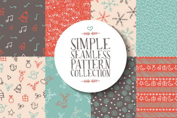 Christmas seamless pattern collection