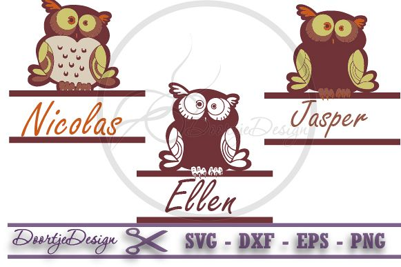 Split Monogram Owl SVG, Split Owls Monogram Svg Frame