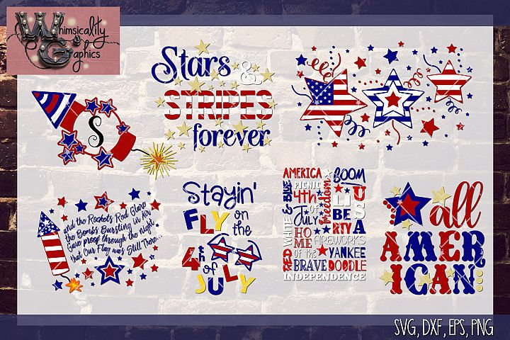 July 4th 2018 Bundle SVG, DXF, EPS, PNG Comm & Pers