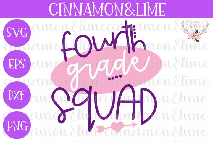4th Grade Squad SVG