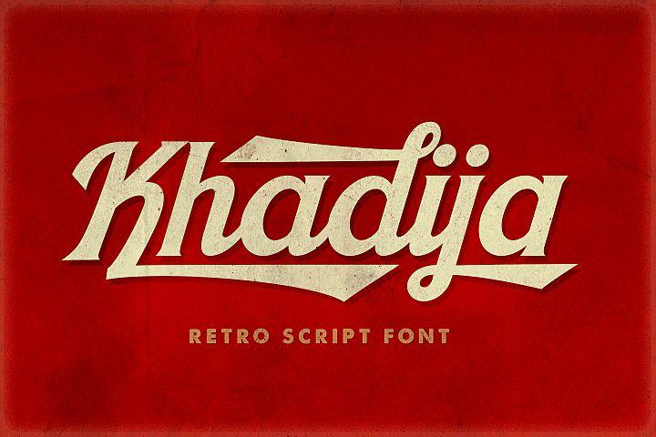 Khadija Script - 4 Fonts