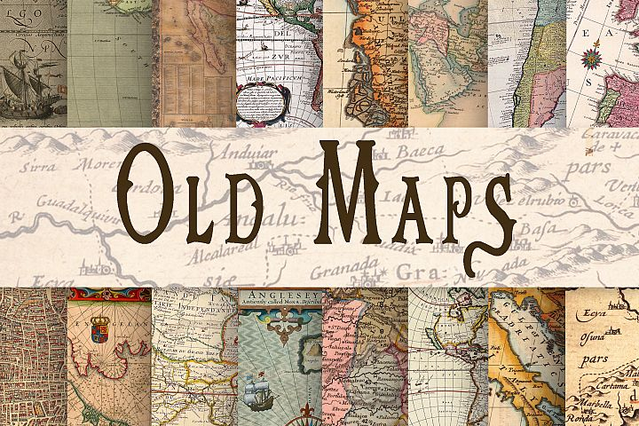 Old Maps Digital Paper - Free Design of The Week