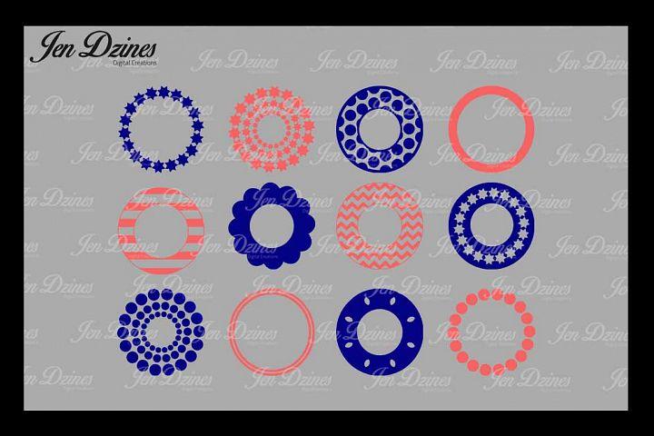 Circle Monogram Frame SVG DXF EPS PNG