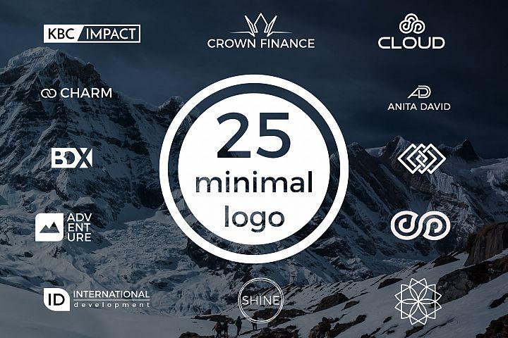 25 minimal logos Bundle