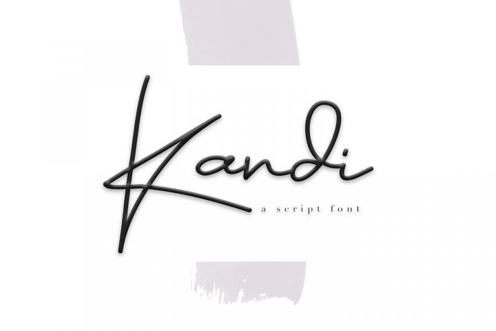 Kandi - A Handwritten Signature Font