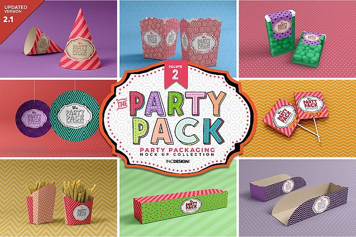 The Party Pack Mockup Collection VOLUME 2