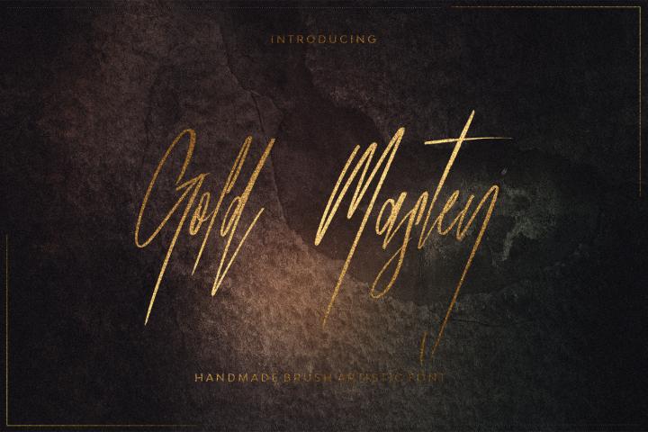 Gold Mastey Artictic Brush Font