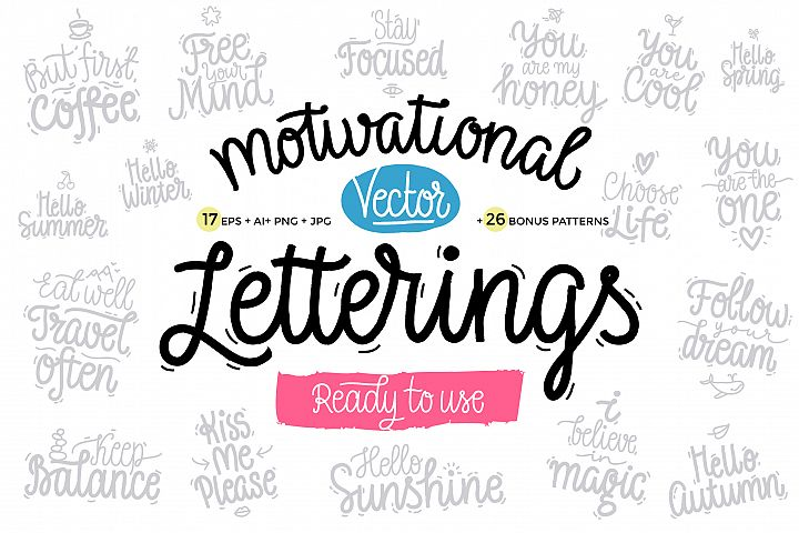 Motivational Vector Letterings