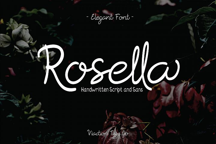 Rosella Script & Sans (Font Duo)