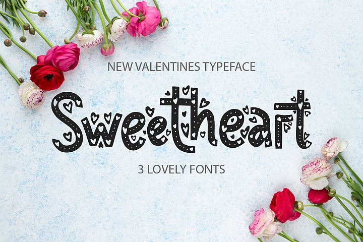Sweetheart font family