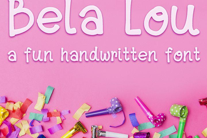 Bela Lou - a Fun, Handwritten OTF font