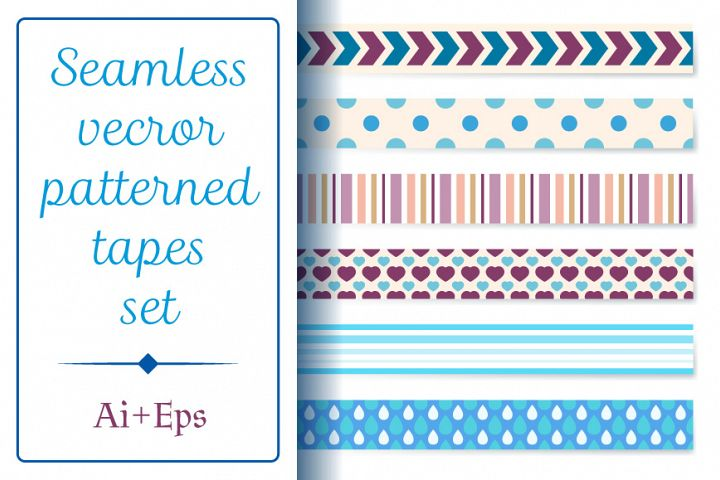 Seamless patterned tapes set