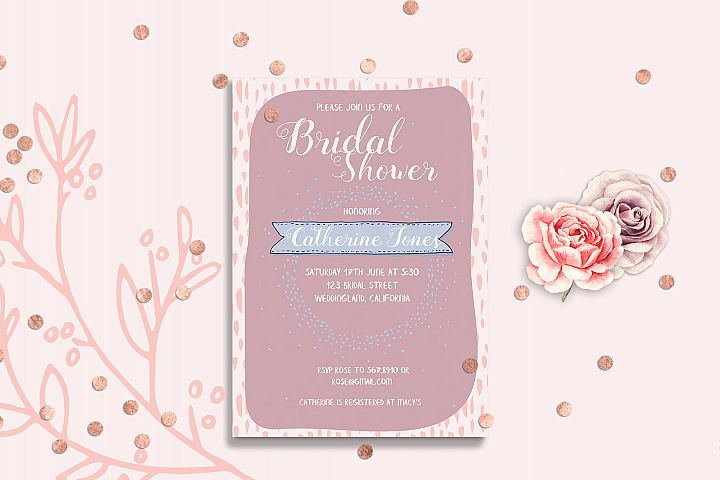 Bridal Shower Point Invitation Card Template