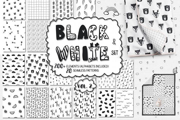 40% OFF! Black and white set (vol.2)