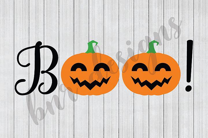 Halloween SVG, Boo SVG, Pumpkin SVG, SVG Files, Cut Files