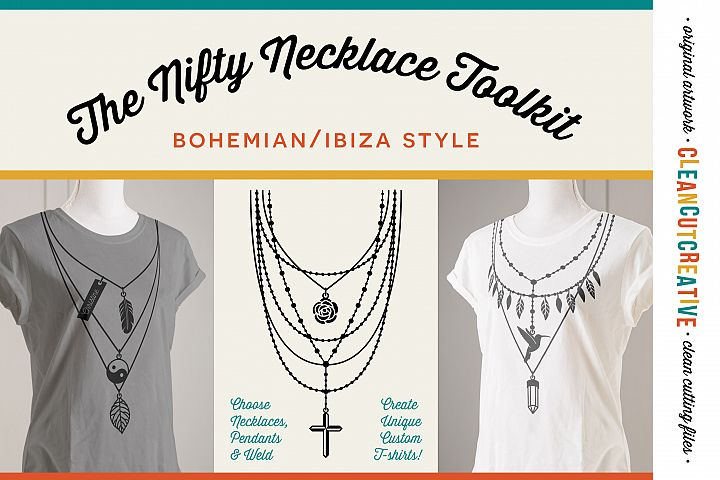 The Nifty NECKLACE TOOLKIT -  DIY Layered Necklace T-shirt Design in Boho/Ibiza Style