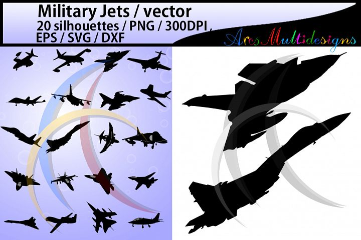 Military jet SVG EPS PNG DXf / military jets silhouette / military jet clipart /High Quality / vector / 300 dpi / jets illustrations
