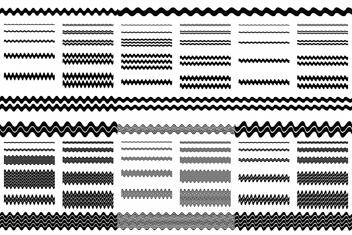 72 wave line dividers - separators in 6 styles (AI, EPS, JPG 5000x5000)