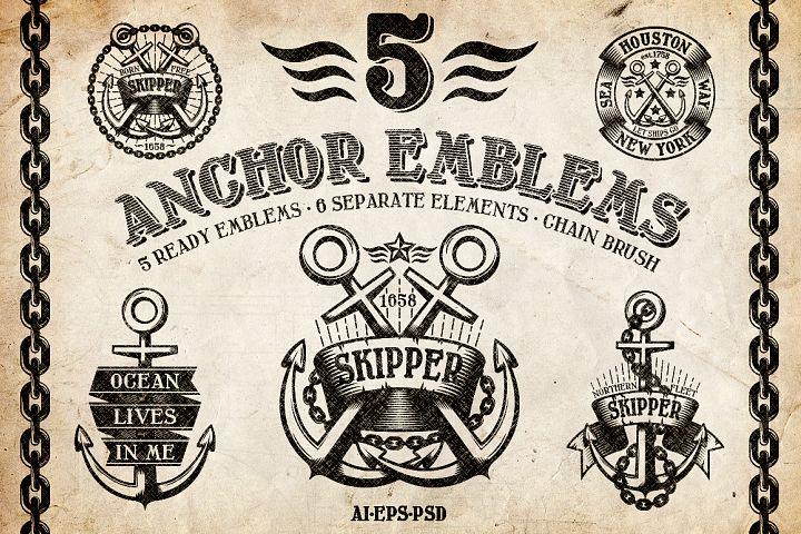 Marine Anchor Logos