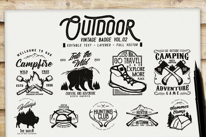 Outdoor Vintage Badge Vol.02