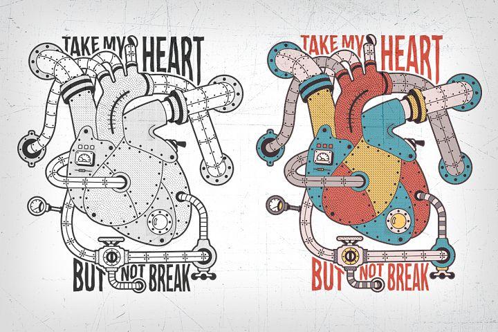 Mechanical steampunk heart