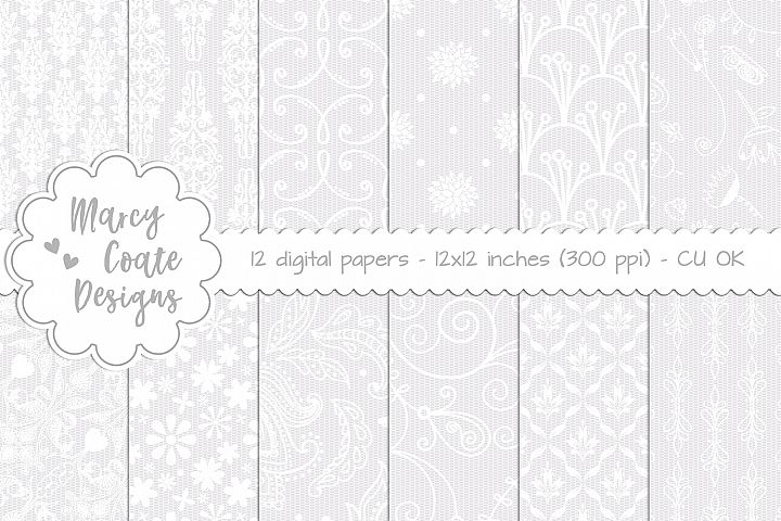 Lace Background Set 1 (Lace Digital Papers)