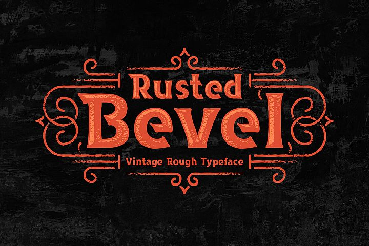 Rusted Bevel Typeface