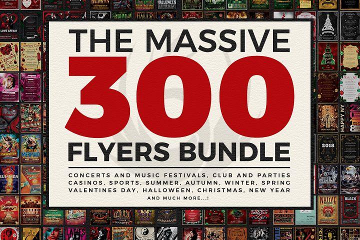 Massive 300 Flyers Bundle 99%OFF