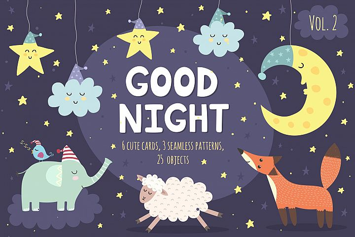 Good Night Vol. 2: patterns & cards