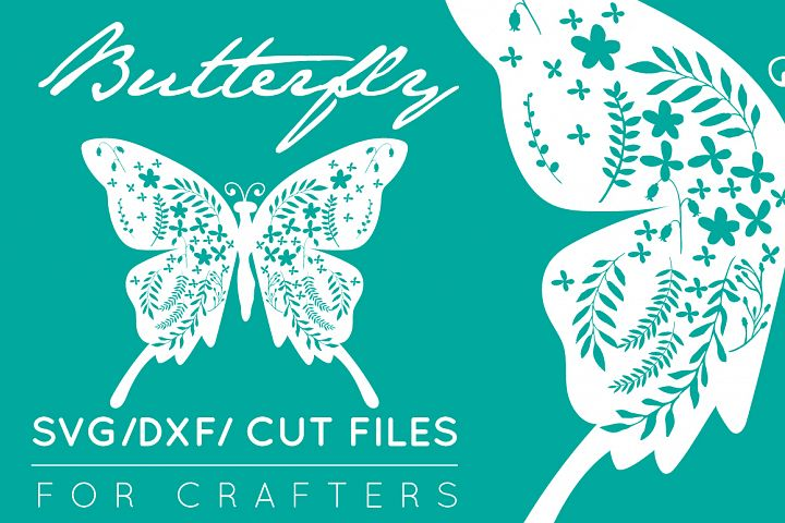 Detailed Butterfly SVG - Crafters Cut SVG / DXF / Ai / EPS / PNG / AI