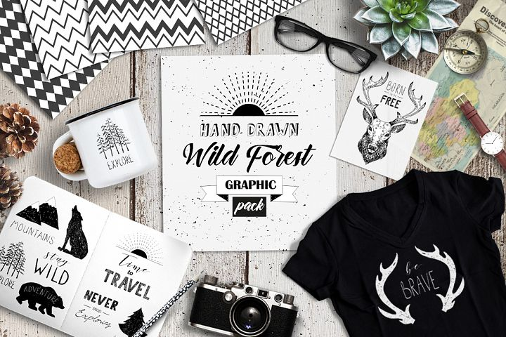 Wild Forest graphic pack - Free Design of The Week