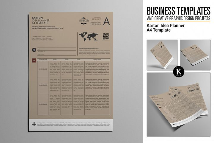 Karton Idea Planner A4 Template