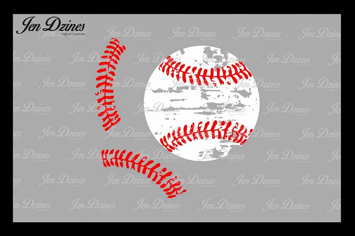 Distressed Baseball stitches SVG DXF EPS PNG