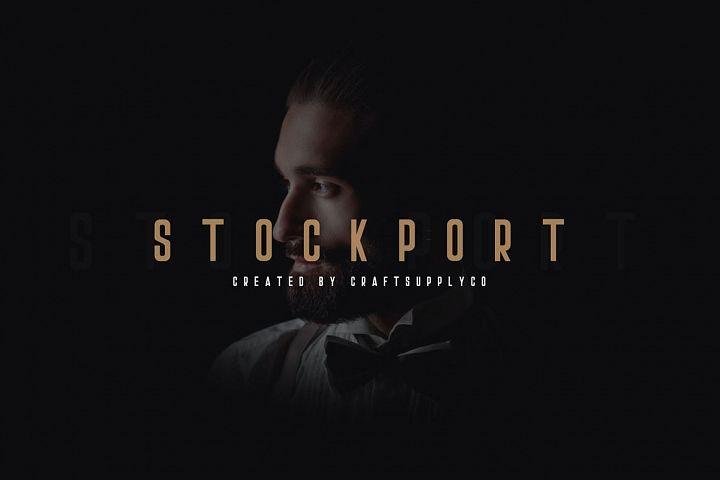 Stockport Font + Bonus Logo