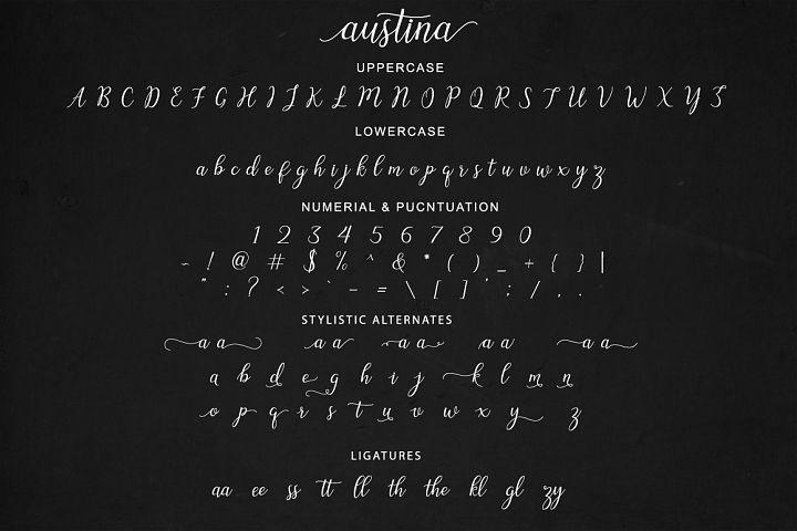 Austina - Free Font of The Week Design 4