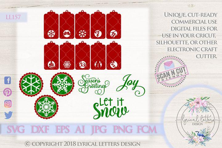 HUGE Christmas Tag Bundle of 16 SVG Cut Files LL157