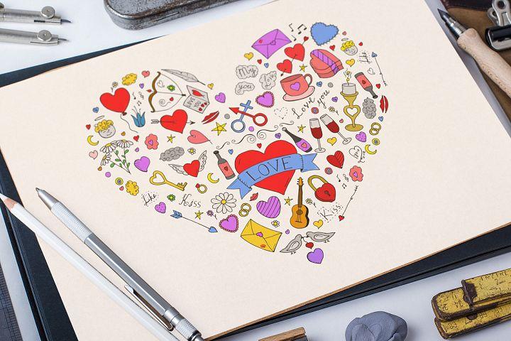 Beautiful hand drawn heart.