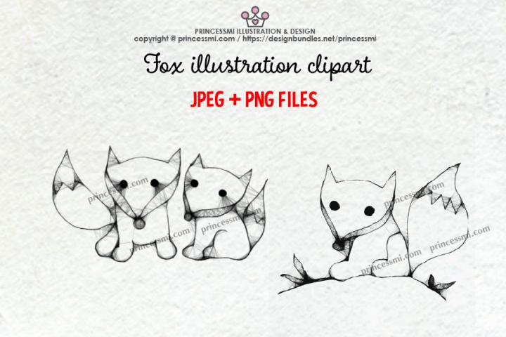 FOX illustration clipart set