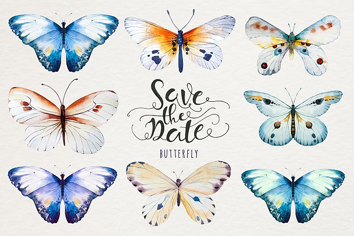 Watercolor butterfly DIY