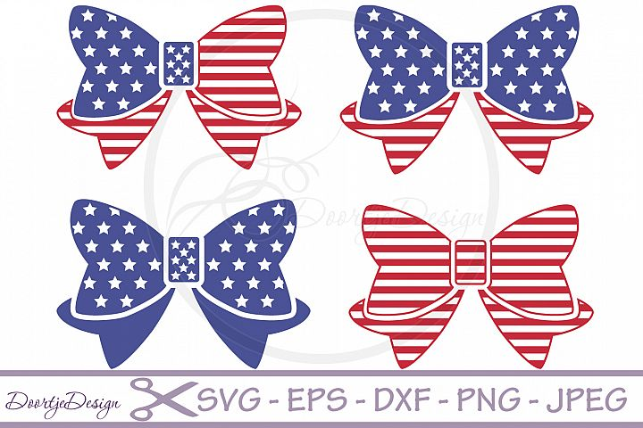 SVG 4th of July Bows 4 Cutting files