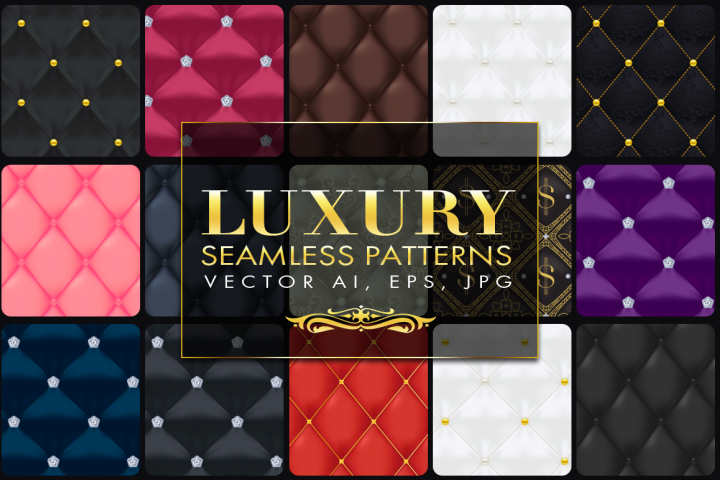 15 Luxury Quilted Seamless Patterns