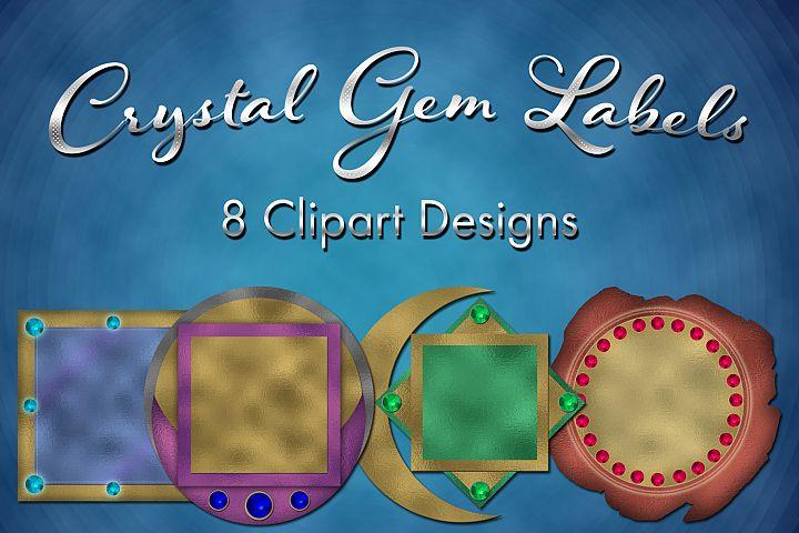 Crystal Gem Labels Clipart Designs
