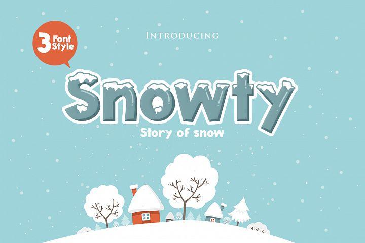 Snowty 3 Font