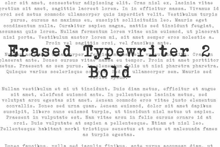 Erased Typewriter 2 Bold
