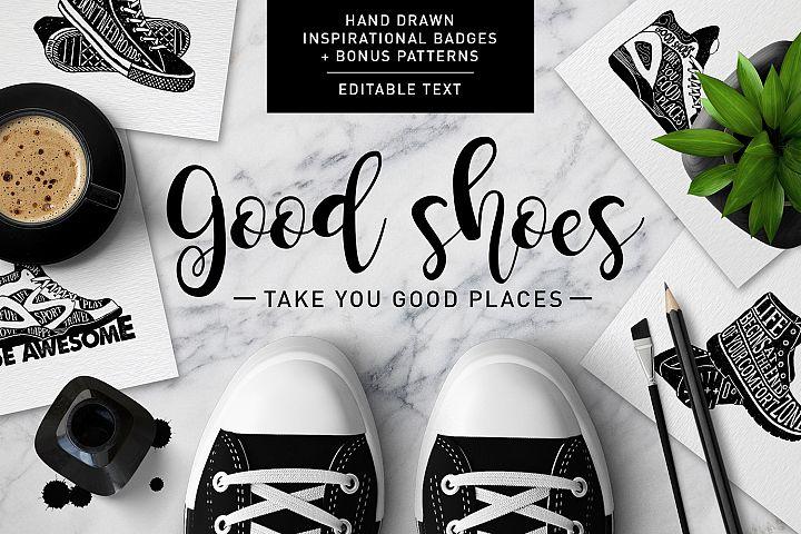 Good Shoes. 8 Inspirational Badges
