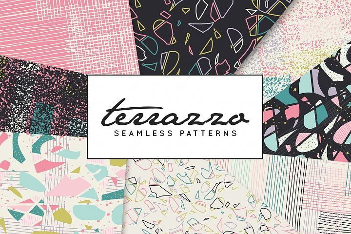 Terrazzo Inspired Digital Paper
