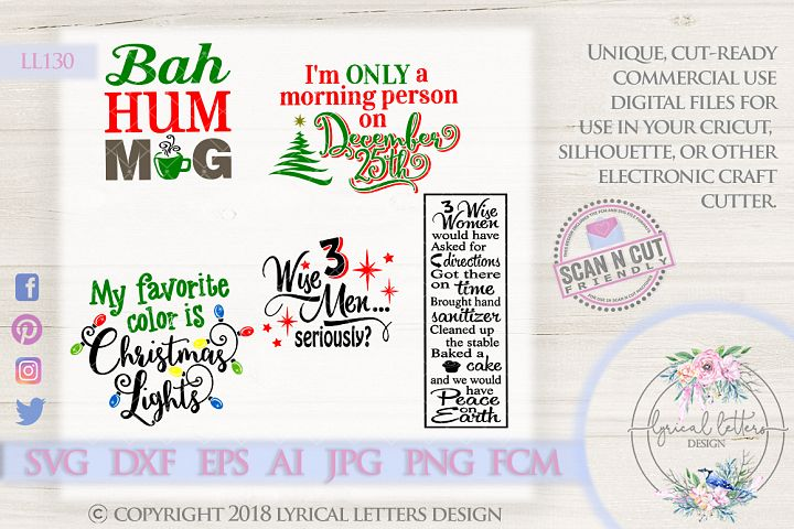 Christmas Humor Bundle of 5 SVG Cut File LL130